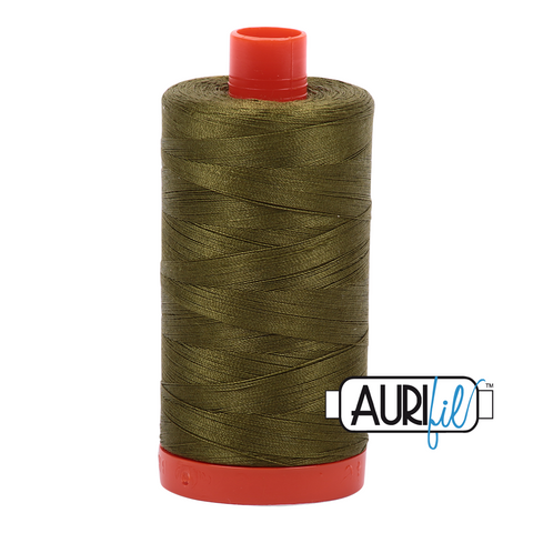 Aurifil Thread - 50wt 100% cotton  - colour 2887 Olive