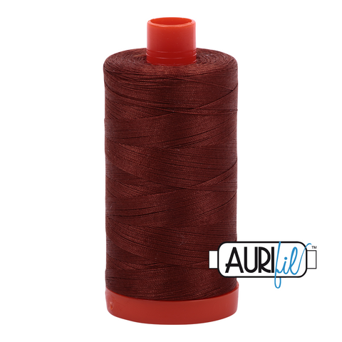 Aurifil Thread - 50wt 100% cotton - colour 4012 Copper Brown