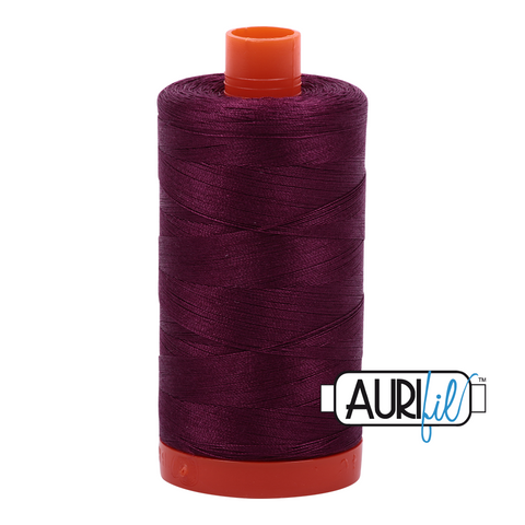 Aurifil Thread - 50wt 100% cotton  - colour 4030 Plum