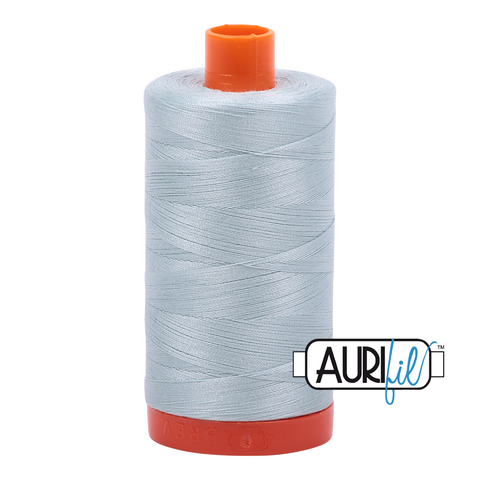 Aurifil Thread - 50wt 100% cotton  - colour 5007 Light Grey Blue