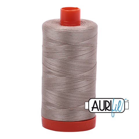 Aurifil Thread - 50wt 100% cotton - colour 5011 Rope Beige