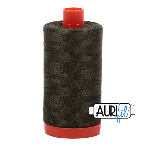Aurifil Thread - 50wt 100% cotton  - colour 5012 Dark Green