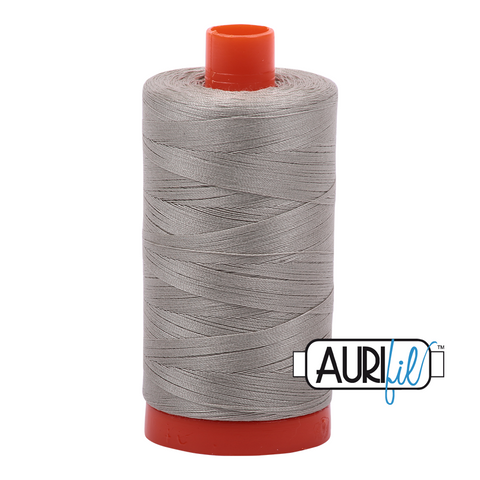 Aurifil Thread - 50wt 100% cotton - colour 5021 Light Grey
