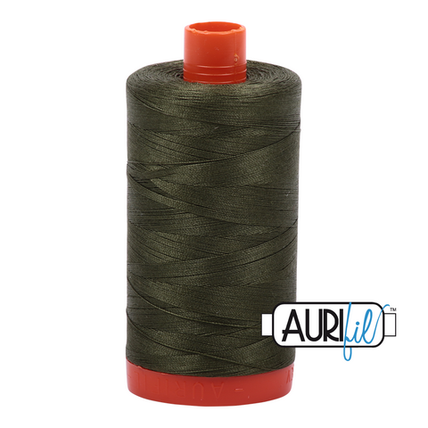 Aurifil Thread - 50wt 100% cotton  - colour 5023 Medium Green