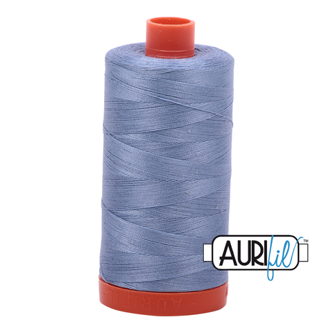 Aurifil Thread - 50wt 100% cotton  - colour 6720 Slate