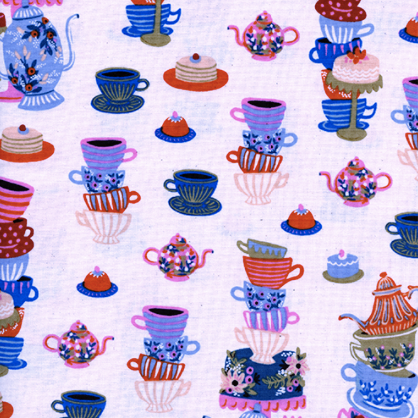 Wonderland by Rifle Paper Co. - Mad Tea Party Neutral