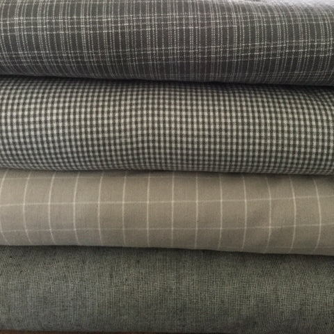 Moda Pure and Simple Brushed Wovens - Fine Weave Grey
