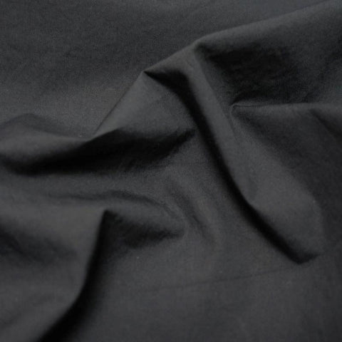 Nova crinkled cotton poplin - Black