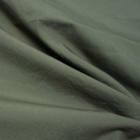 Nova crinkled cotton poplin - Khaki