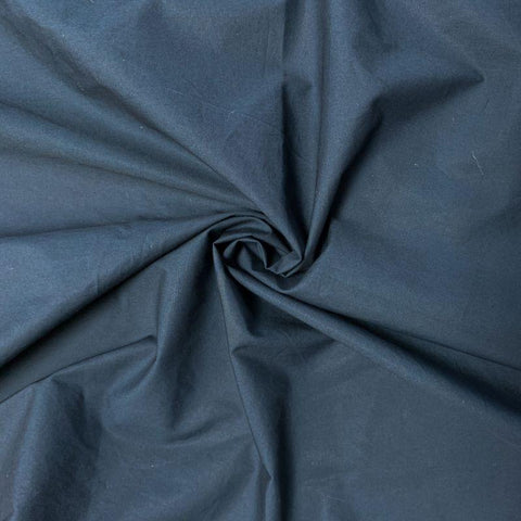 Nova crinkled cotton poplin - Navy