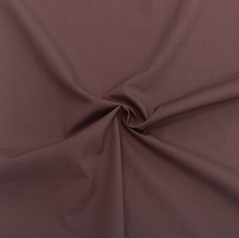 Nova crinkled cotton poplin - Raisin