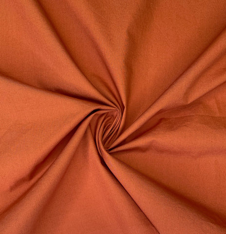 Nova crinkled cotton poplin - Rust