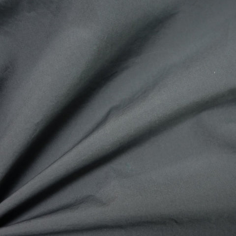 Nova crinkled cotton poplin - Steel