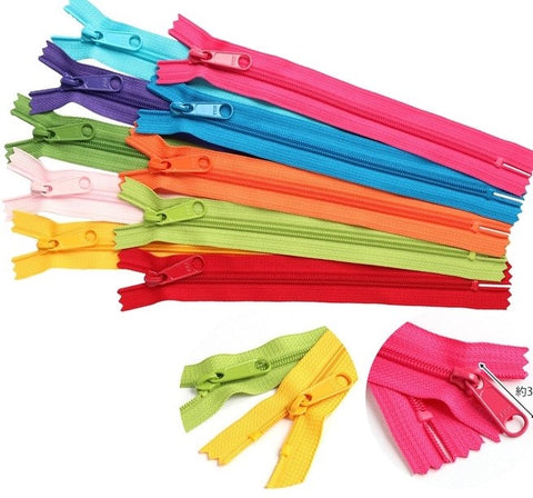 Colourful Zippers - Single colour, large tab - Choose your colour