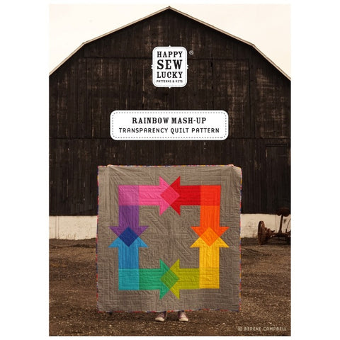 Rainbow Mash-up Quilt by Happy Sew Lucky