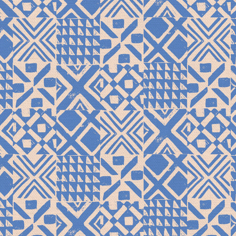 PBS Fabrics - Lisbon Love - Tiles in Blue