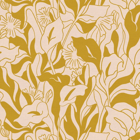 PBS Fabrics - Lisbon Love - Lillies in Gold