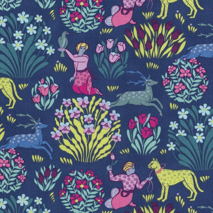 Amy Butler Splendor Fabric - Forest Friends Midnight