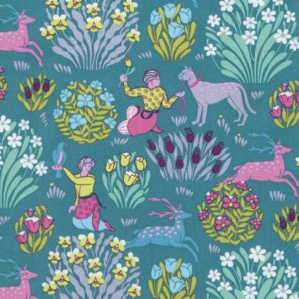 Amy Butler Splendor Fabric - Forest Friends River