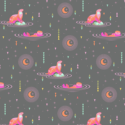 Tula Pink Spirit Animal - Otter and Chill in Star Light