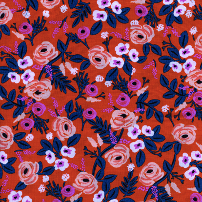 Wonderland by Rifle Paper Co. - Paint Roses Orange RAYON