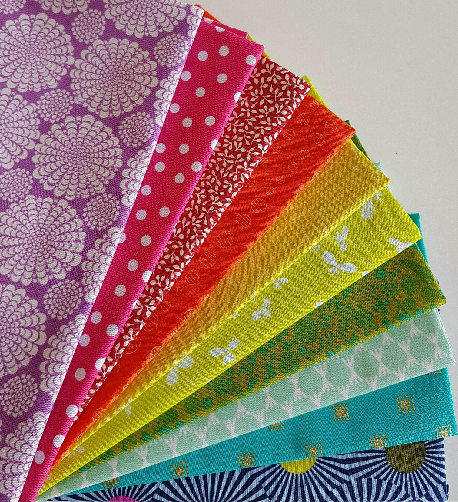 12 Months Of Rainbow Fabric Bundles Fabric Spark