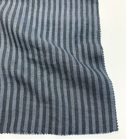 Savannah Striped Linen - Charcoal