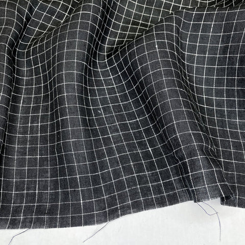 Savannah Checked Linen - Black