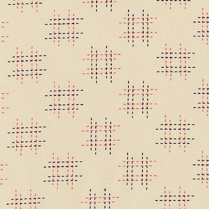 Sevenberry Canvas - Kasuri Stitch Quilting Cotton in natural
