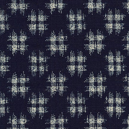 Sevenberry Sakura - Ikat check on Indigo