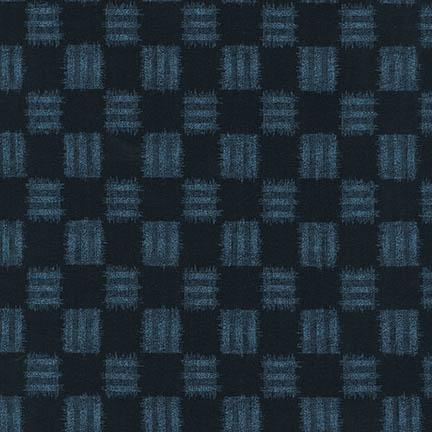 Sevenberry Sakura - Checkerboard in blue on black