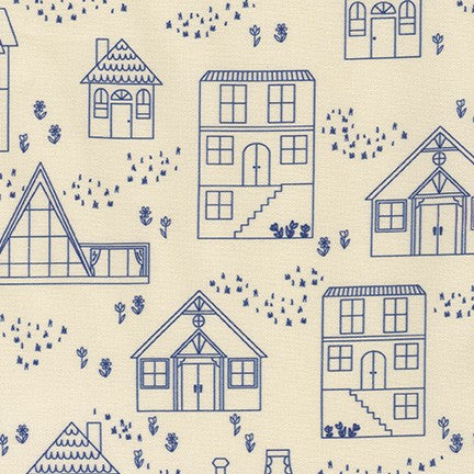 On the Lighter Side by Robert Kaufman - Houses in Blue