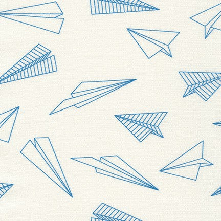 On the Lighter Side by Robert Kaufman Fabrics - Paper Airplanes in Blue