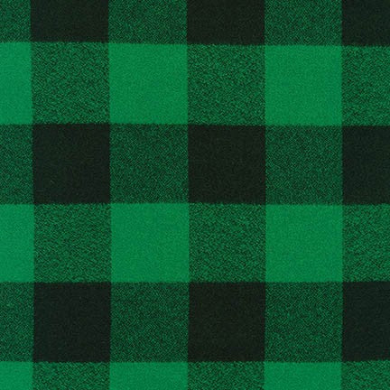 Mammoth Flannel - Large Two Check - green