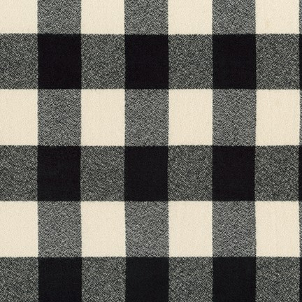 Robert Kaufman Mammoth Flannel - Ivory Check