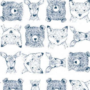 Blue Moon - Woodland Critters White