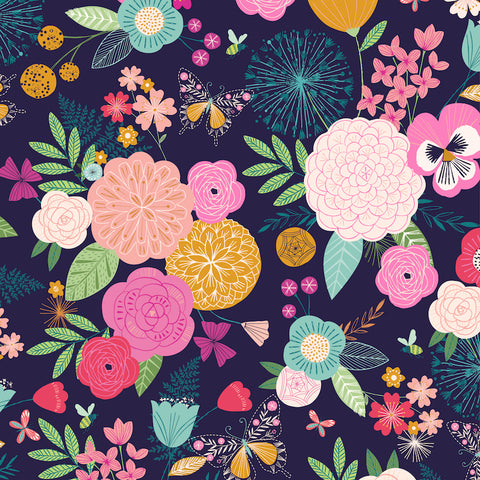Dashwood Summer Dance by Bethan Janine - Garden in Navy