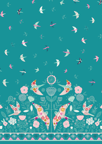 Dashwood Summer Dance by Bethan Janine - Swallows Border Print