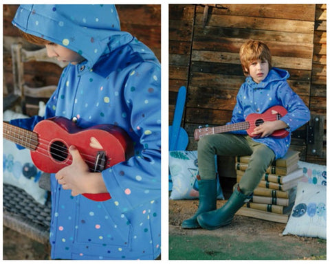 Katia Soft Shell - Water Resistant Cozy in Periwinkle Dot