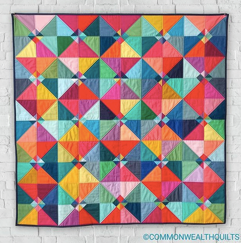 Circus Tent Quilt by Commonwealth Quilts