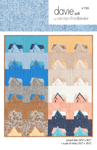 Carolyn Friedlander Davie (mini) Quilt Pattern or Wall Hanging