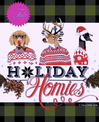 Tula Pink Holiday Homies - Peppermint Stars Ink