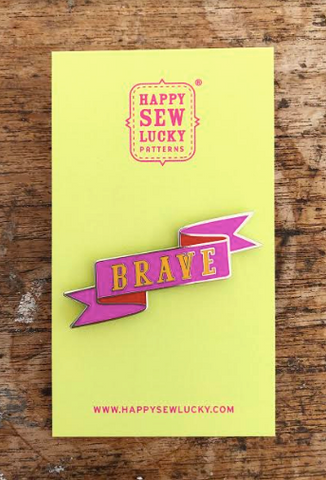 Happy Sew Lucky Pins - Brave