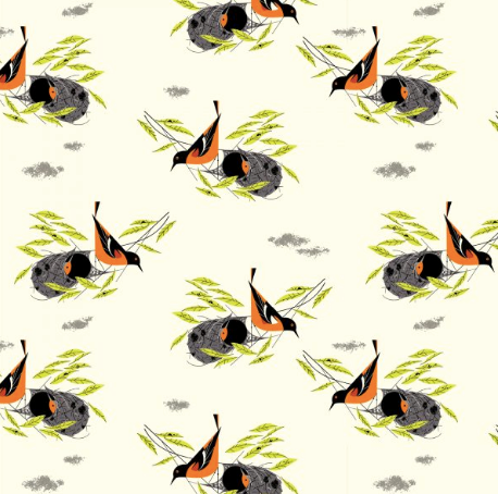 Charley Harper Bird Architect - Baltimore Orioles