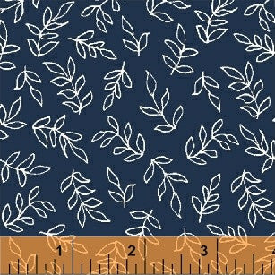 Sweet Florals Another Point of View - Scribble Leaves Navy