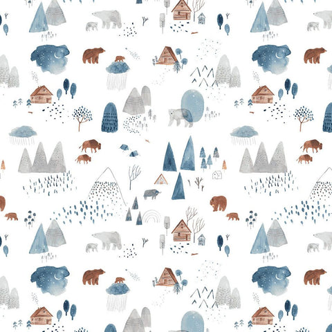 Dear Stella Brave Enough to Dream Flannel - Dreamscape in White