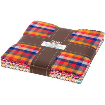 Mammoth Flannel Junior Warm Colour Story - 10 Inch Charm Pack
