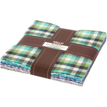 Mammoth Flannel Junior Cool Colour Story - 10 Inch Charm Pack