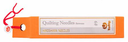 Contains 6ea #9 Quilting Needles Between per package. Actual needle size is .53mm x 27.0mm.