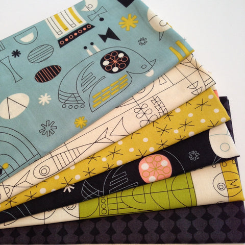 Designer Bundle - Tiki Tok by Jenn Ski 6 Fat Quarter Bundle